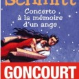 Le dernier livre d&#039;Eric Emmanuel Schmitt est un concerto, comme son nom l&#039;indique. Compos de trois mouvements d&#039;intensit romanesque allant crescendo, cet opus vibre de notes particulirement amoureuses.